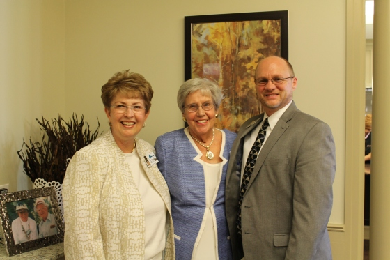 Lucy Woodside, Manor Park Director of Fund Development, Margaret Cowden, Jay Hobbs, Manor Park Director of Health Care