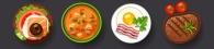 36739278 - dishes icon set